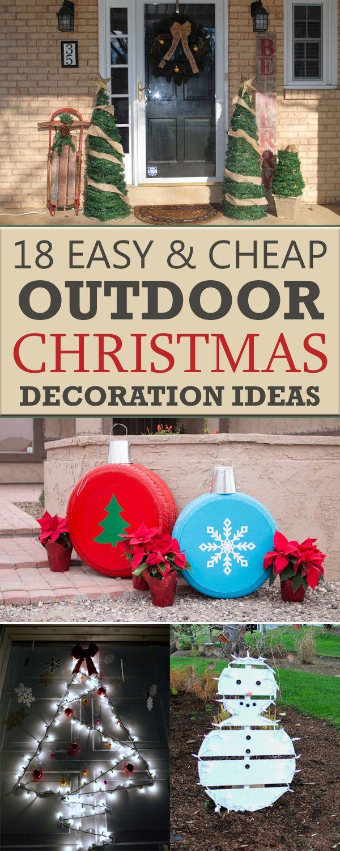 DIY Outdoor Christmas Decorating Ideas  18 Easy And Cheap DIY Outdoor Christmas Decoration Ideas