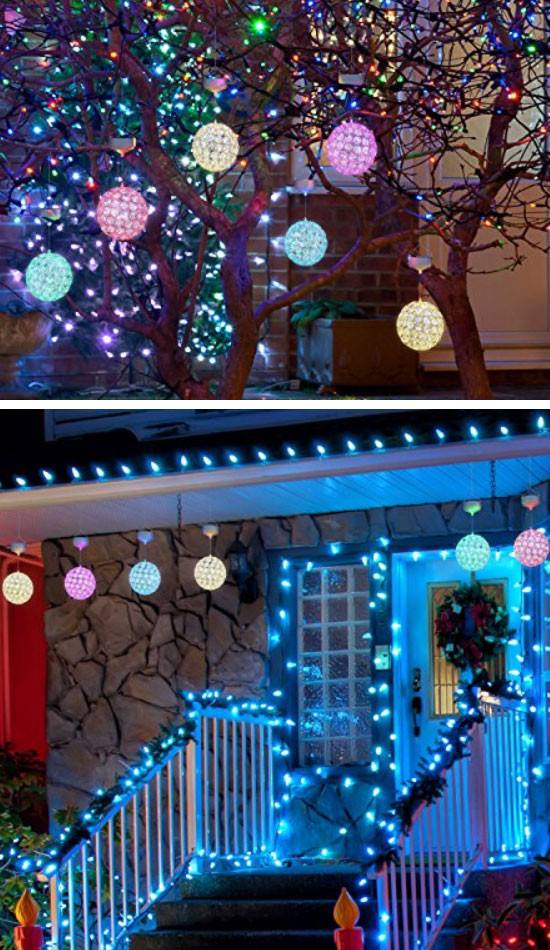 DIY Outdoor Christmas Lights  28 DIY Christmas Outdoor Decorations Ideas that Will Make
