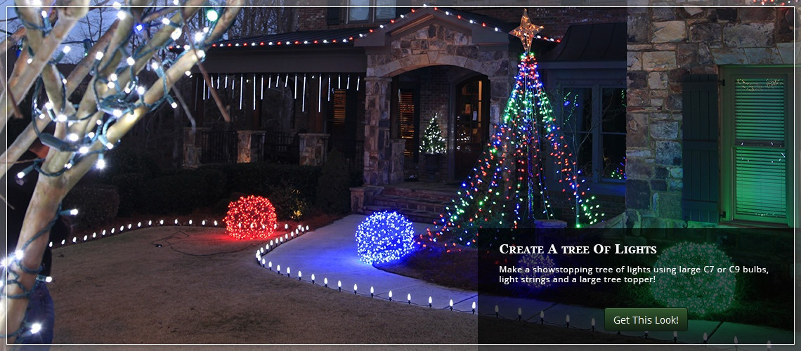 DIY Outdoor Christmas Lights  Outdoor Christmas Yard Decorating Ideas
