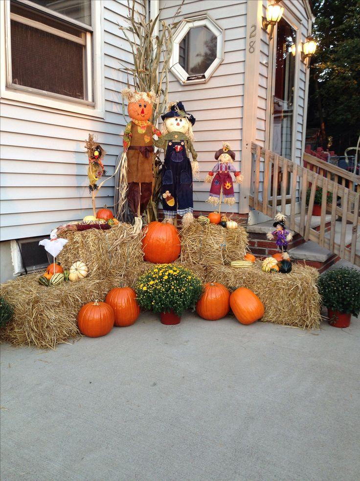 Diy Outdoor Fall Decor  Outdoor fall decor Fall Decor & DIY Pinterest
