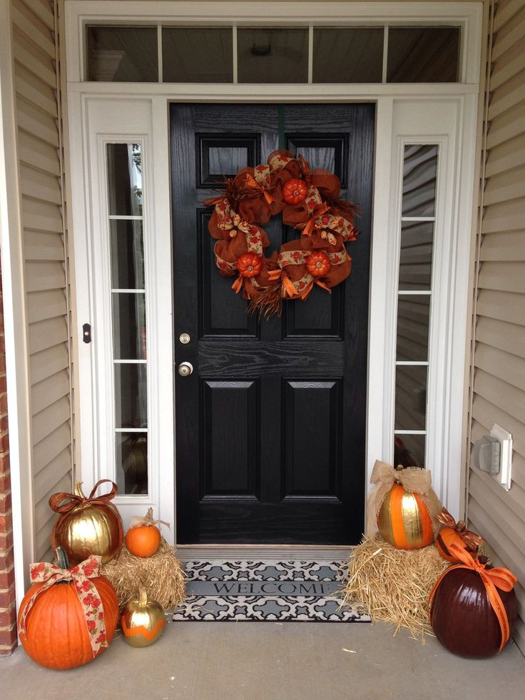 Diy Outdoor Fall Decor  129 best Fall Indoor And Outdoor Decor images on Pinterest
