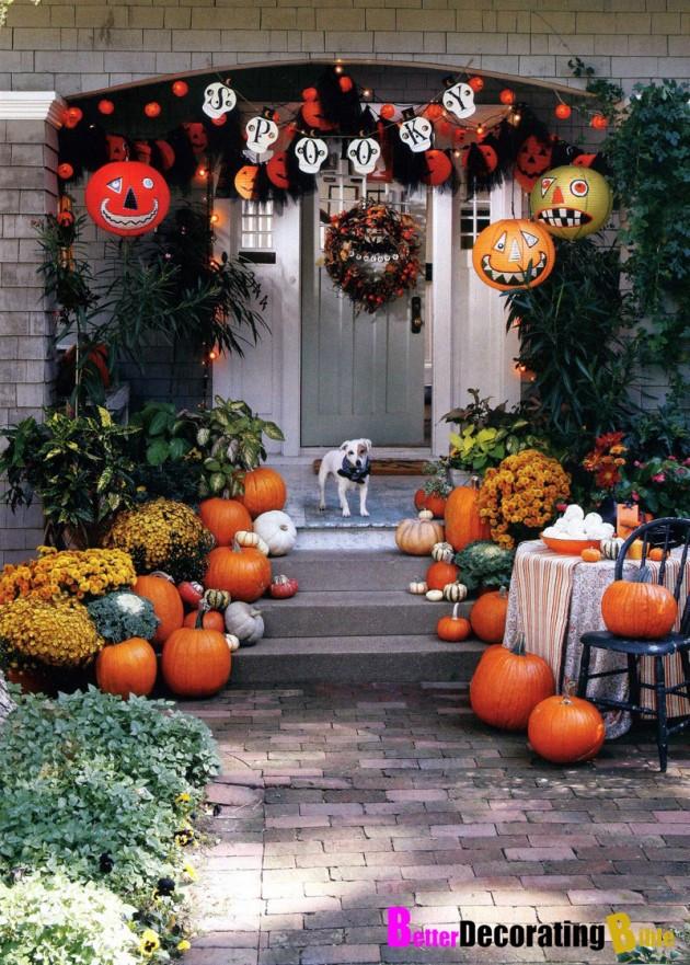 Diy Outdoor Fall Decor  30 Adorable DIY Fall Porch Ideas