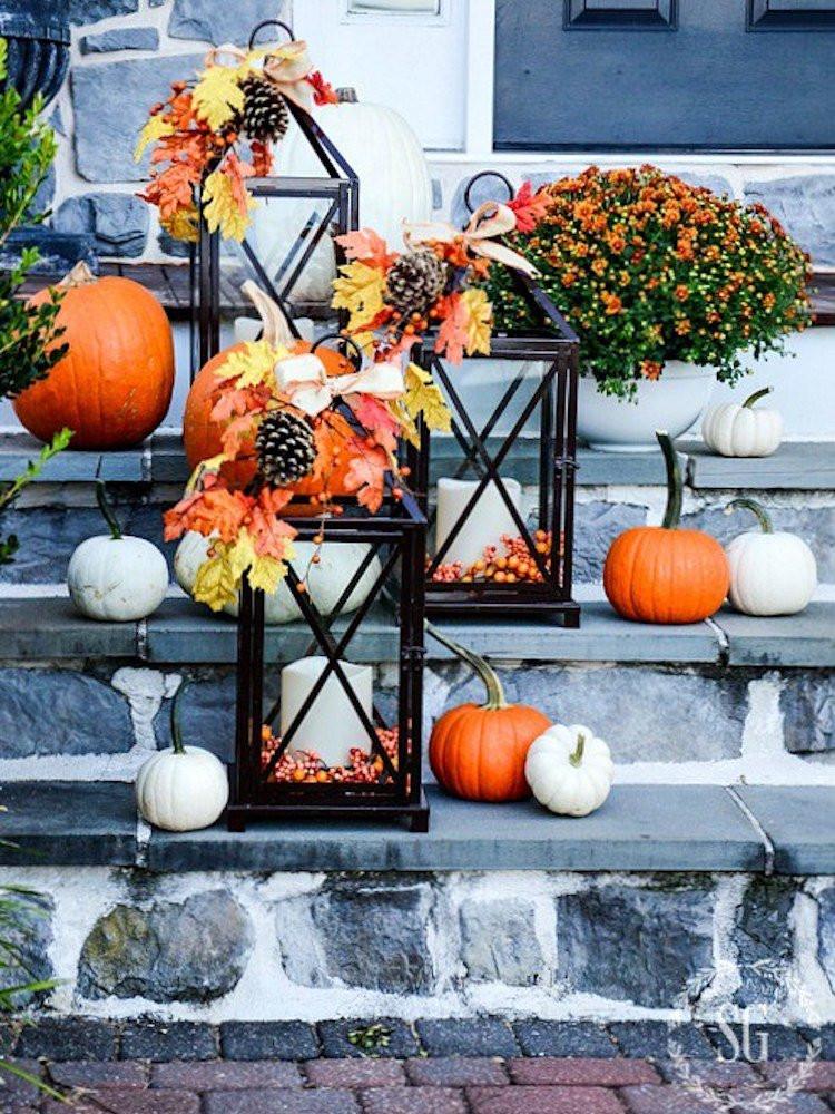 Diy Outdoor Fall Decor  Fall Lanterns DIY Outdoor Fall Decor 13 Easy Projects