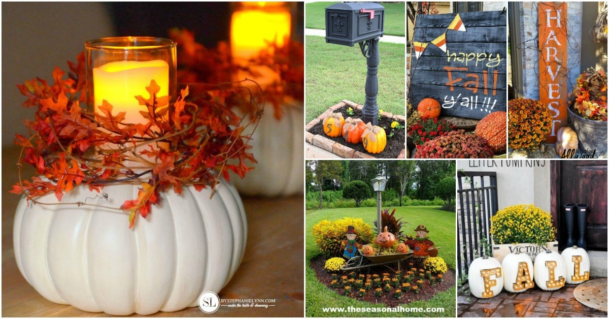 Diy Outdoor Fall Decor  20 DIY Outdoor Fall Decorations That ll Beautify Your Lawn