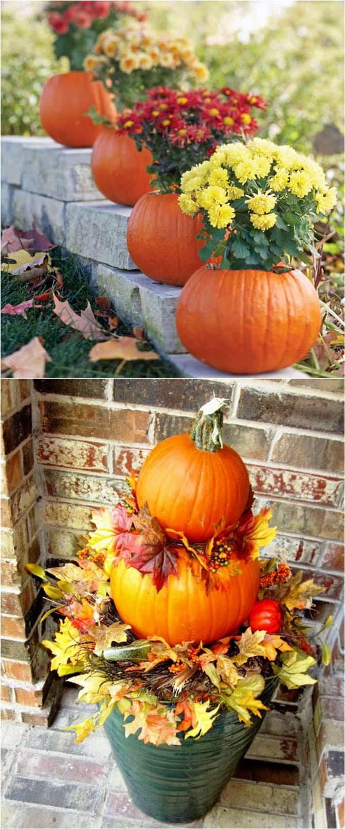 Diy Outdoor Fall Decor  25 Splendid Front Door DIY Fall Decorations A Piece