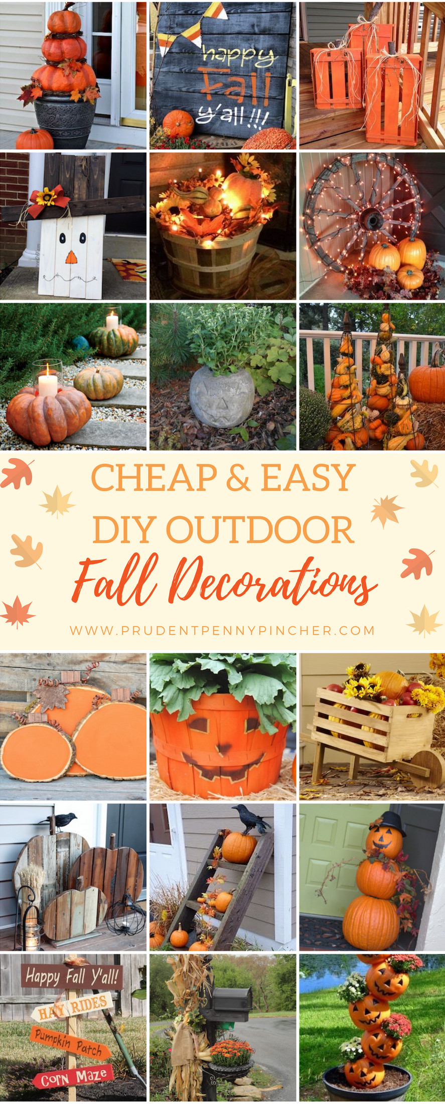 Diy Outdoor Fall Decor  50 Cheap and Easy DIY Outdoor Fall Decorations Prudent
