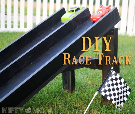 DIY Race Track  Weekend DIY Project Wood Race Car Track