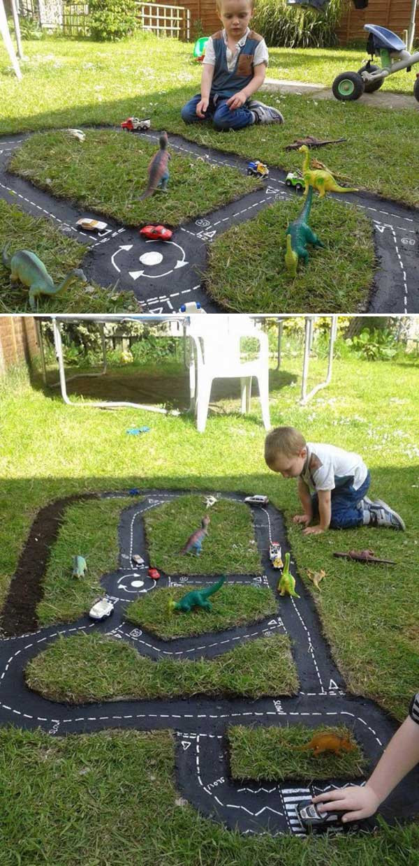 DIY Race Track  Backyard Projects For Kids DIY Race Car Track