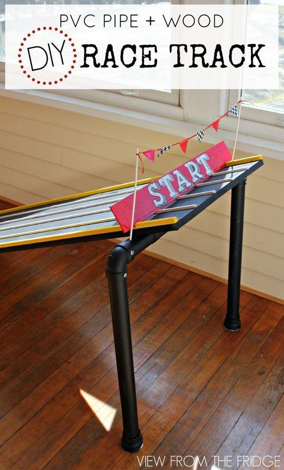 DIY Race Track  DIY PVC Wood Race Track awana