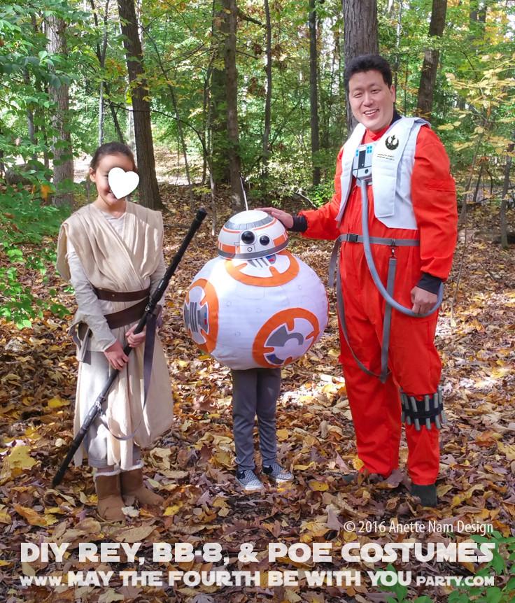 DIY Rey Costume  HAPPY HALLOWEEN DIY Rey BB 8 and Poe Costumes