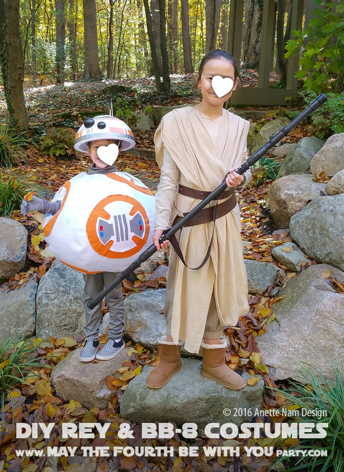 DIY Rey Costume  The Fun Awakens DIY Rey and BB 8 Costumes