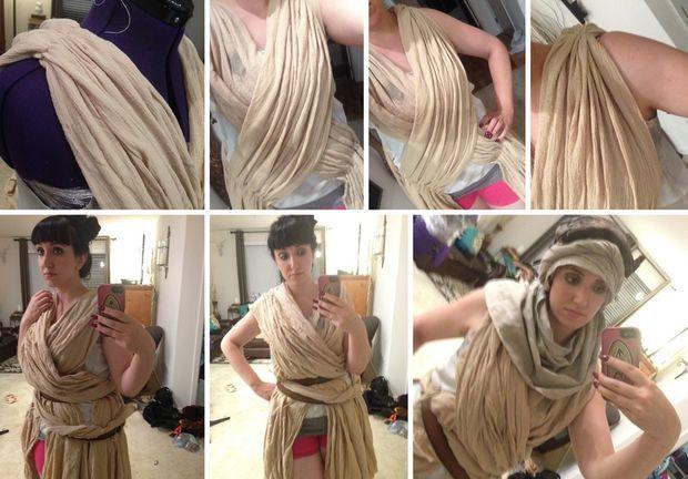 DIY Rey Costume  Star Wars DIY Rey Costume 4 Steps with