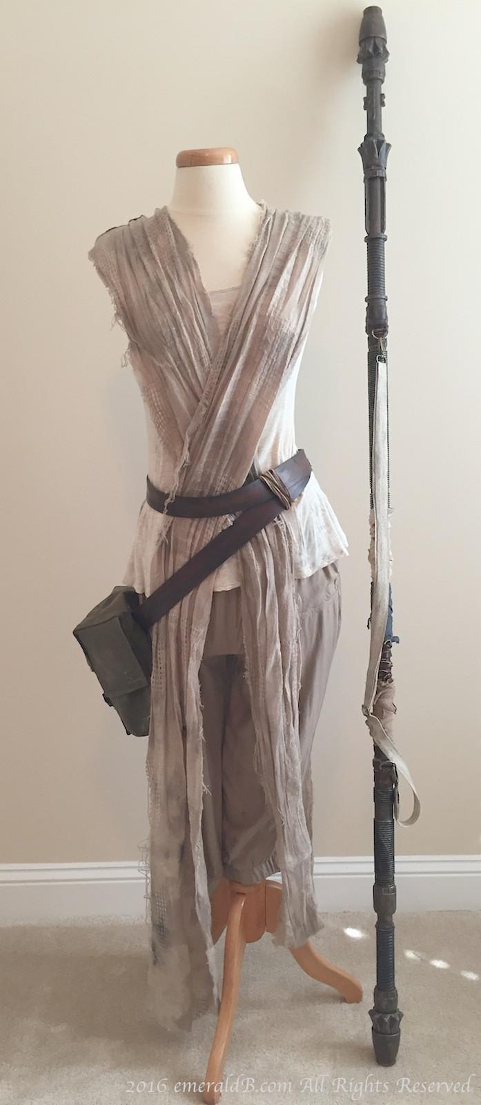 DIY Rey Costume  Star Wars Rey Costume Part 1 – Wrap Dress – emeraldB