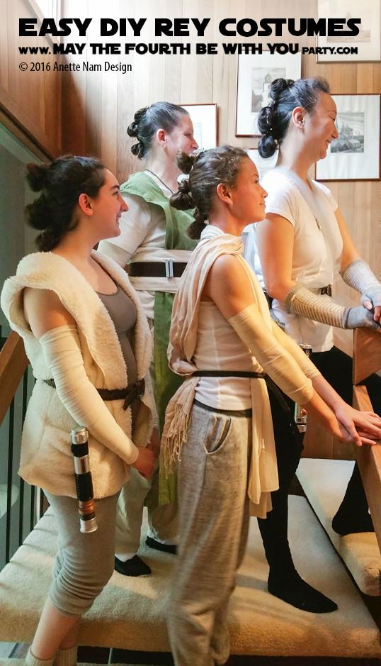 DIY Rey Costume  Array of Reys Easy DIY Rey Costume