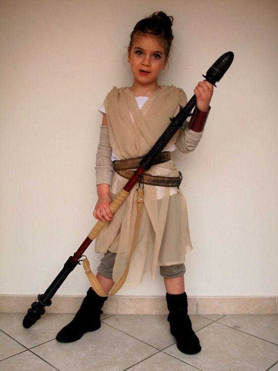 DIY Rey Costume  23 Coolest Halloween Costumes For Little Girls Styleoholic