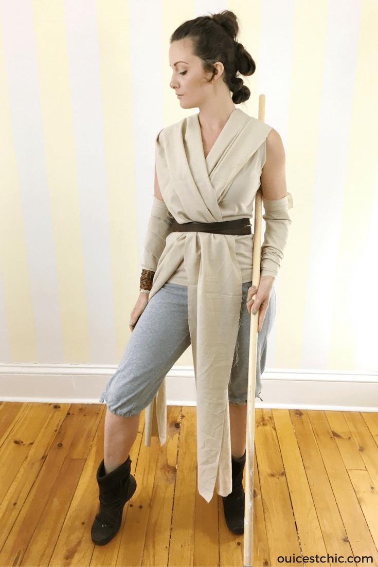 DIY Rey Costume  DIY Rey Halloween Costume Star Wars & Hair Tutorial