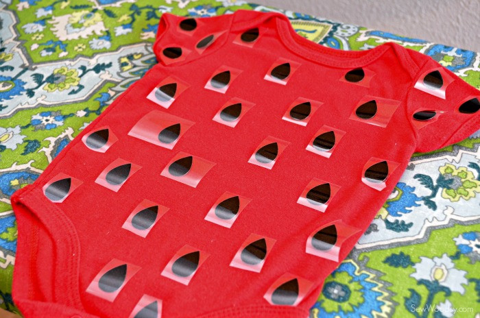 DIY Strawberry Costume  DIY Infant Strawberry Costume Sew Woodsy