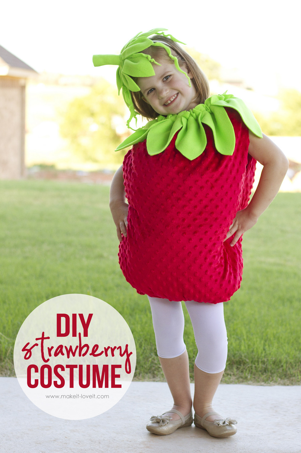DIY Strawberry Costume  Can you figure this out a few personal things