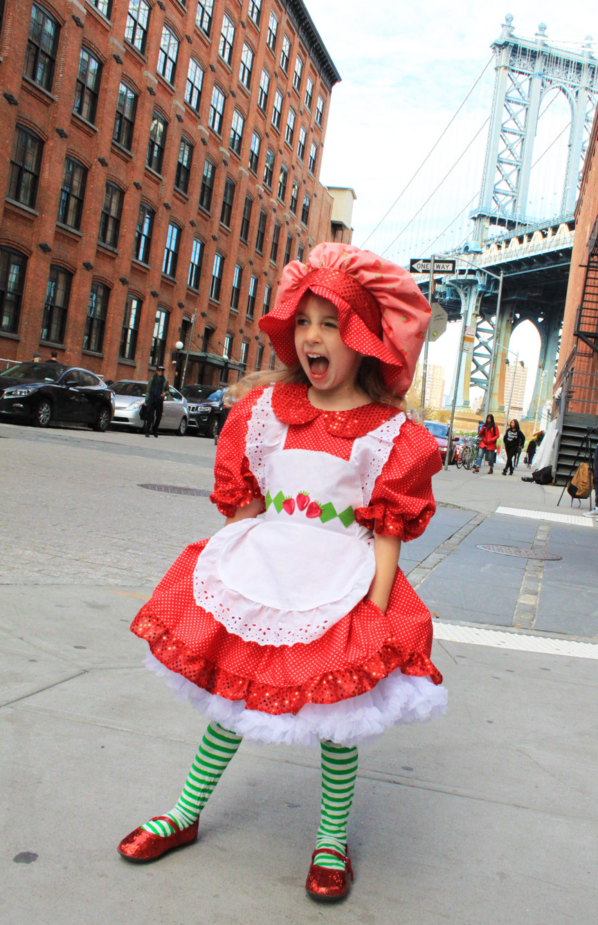 DIY Strawberry Costume  Strawberry Shortcake Costume for a Toddler or Child