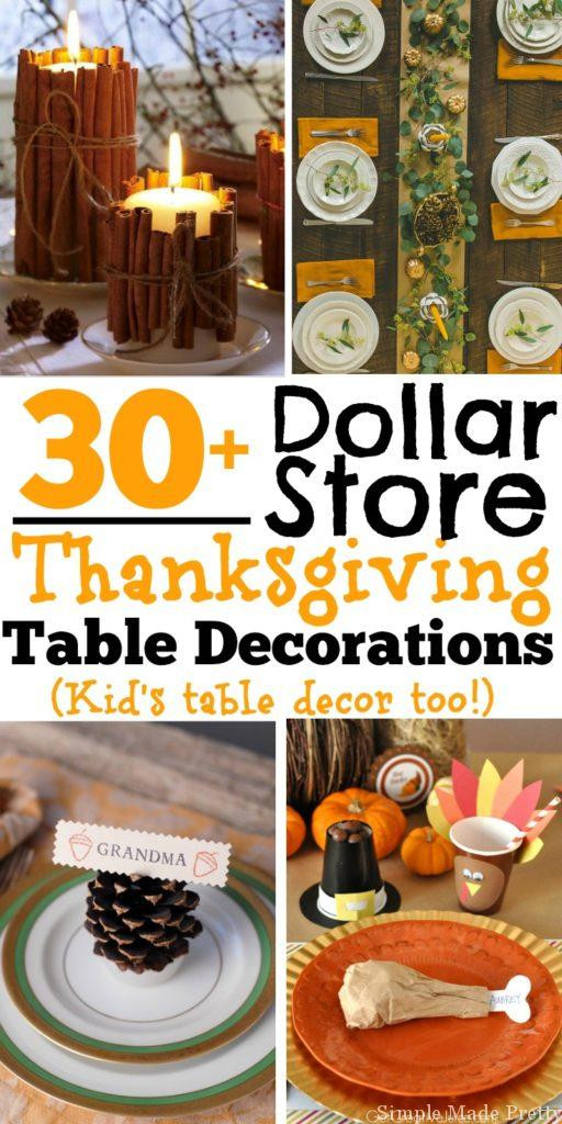 Diy Thanksgiving Table Decorations  30 DIY and Dollar Store Thanksgiving Table Decorations