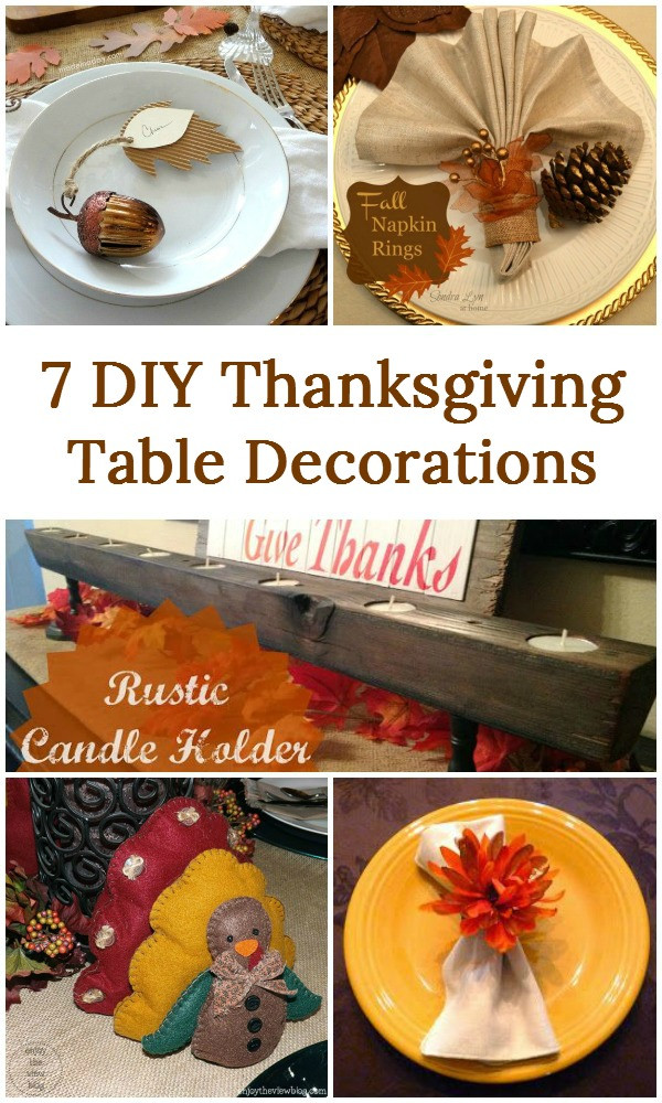 Diy Thanksgiving Table Decorations  7 DIY Thanksgiving Table Decorations