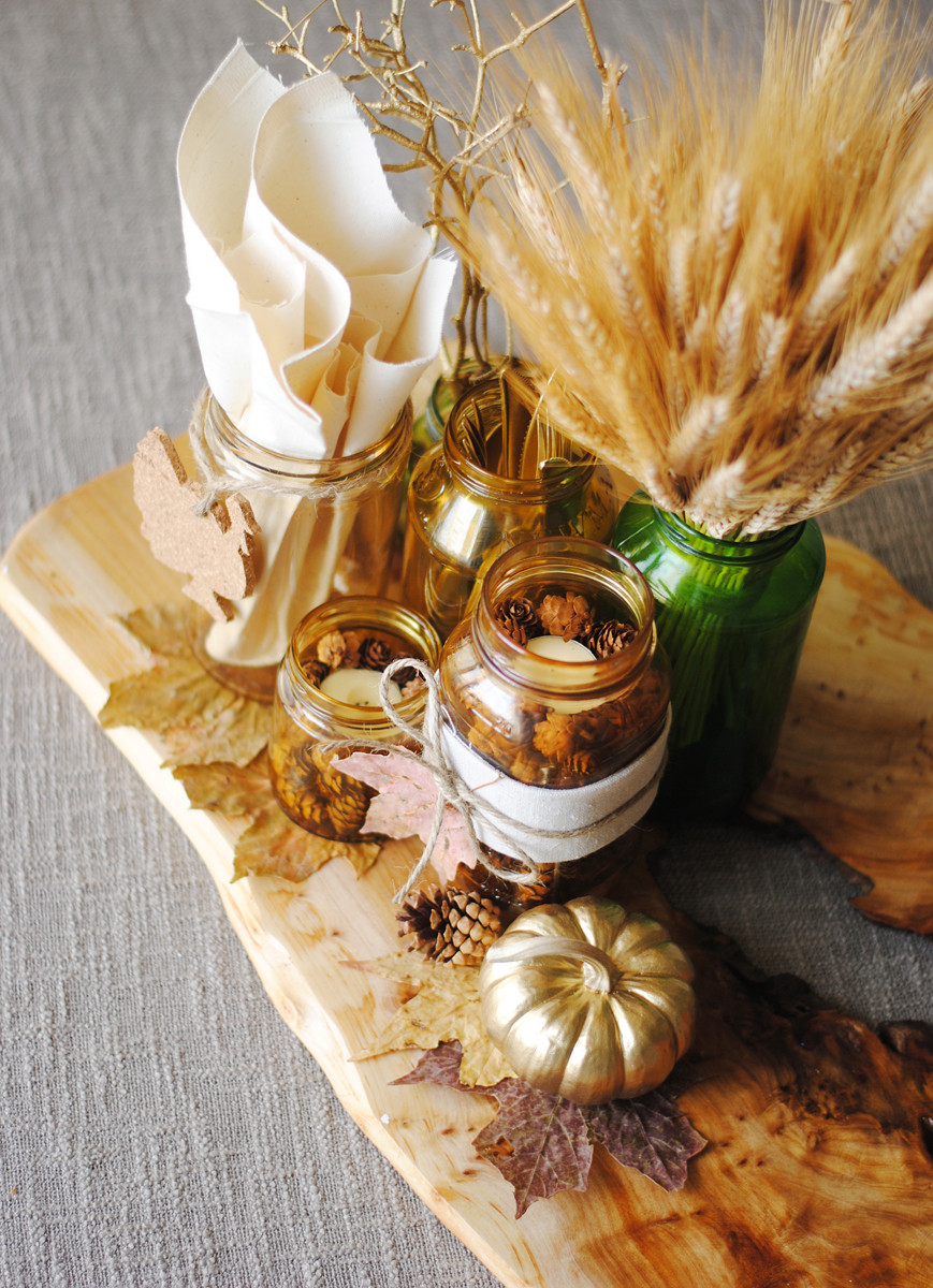 Diy Thanksgiving Table Decorations  26 Lovely DIY Thanksgiving Centerpieces