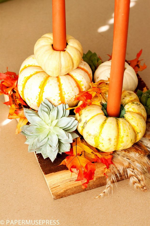 Diy Thanksgiving Table Decorations  20 Easy Thanksgiving Decorations for Your Home