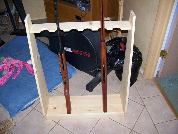 DIY Vertical Gun Rack  20 best Gun Cabinet Plans images on Pinterest