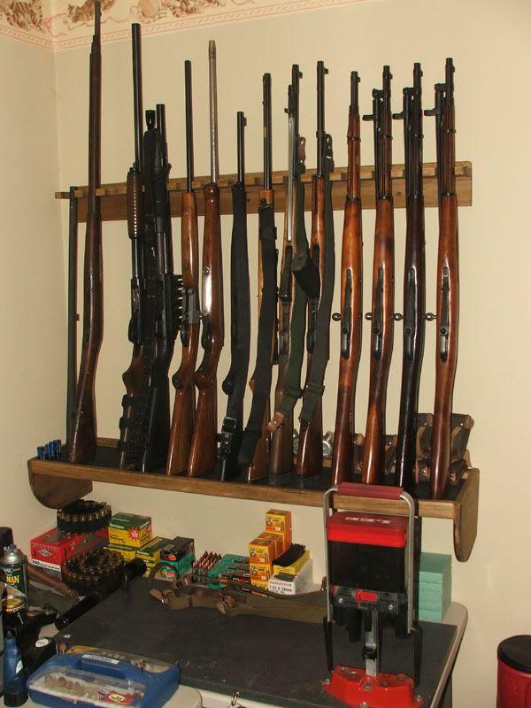 DIY Vertical Gun Rack  Wopa Gun rack plans vertical