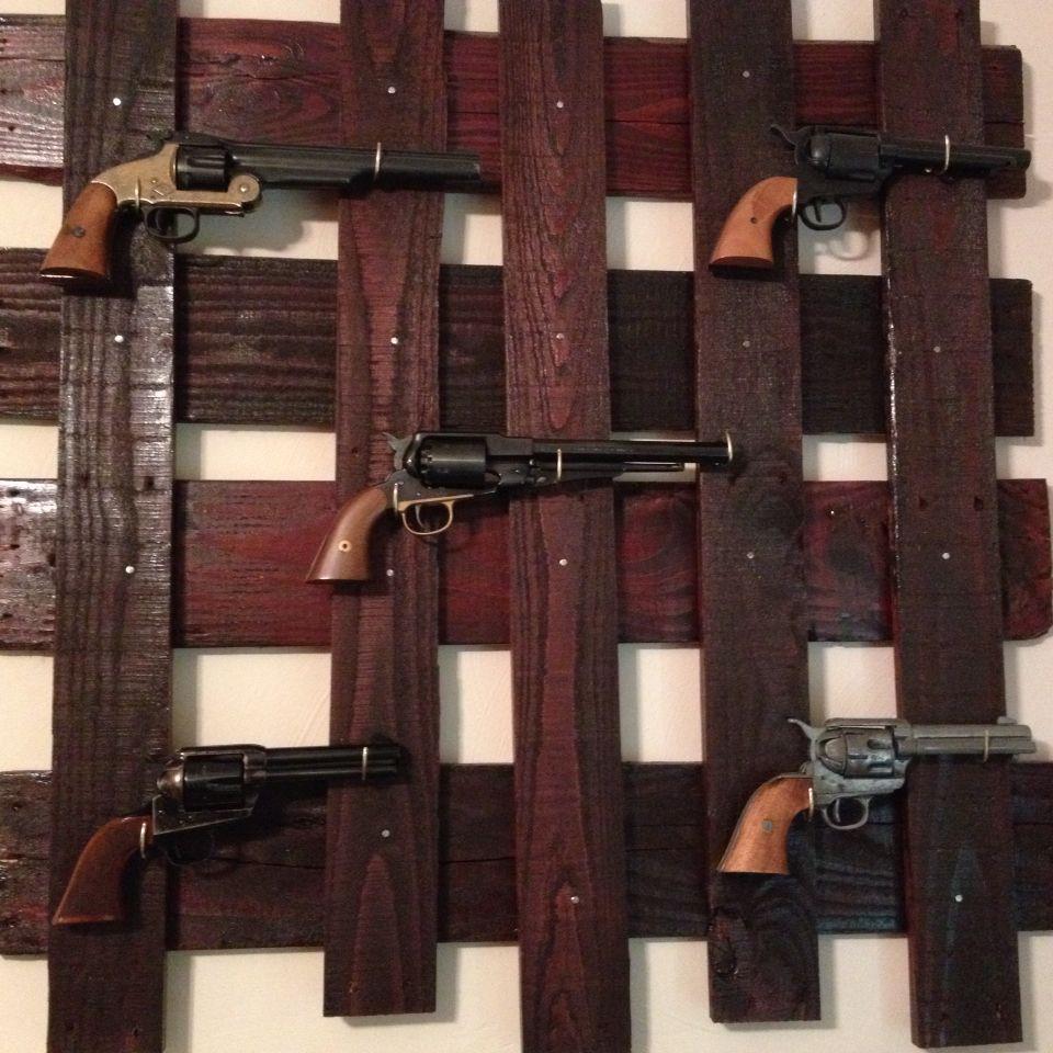 DIY Vertical Gun Rack  Home made pallet gun rack Outlaw Livin