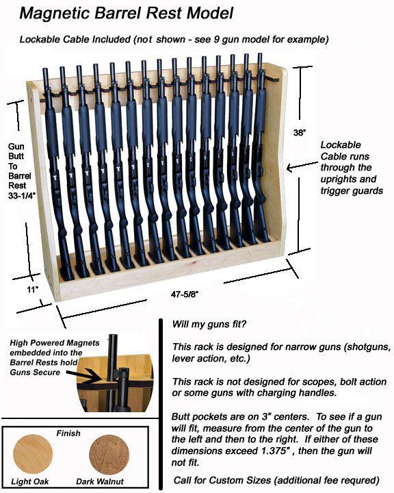 DIY Vertical Gun Rack  Quality Rotary Gun Racks quality Pistol Racks Magnetic