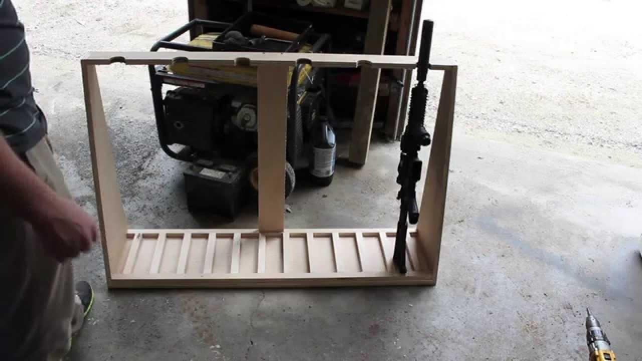 DIY Vertical Gun Rack  DIY Gun Rack