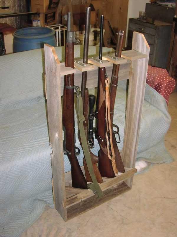 DIY Vertical Gun Rack  Rifle rack plans