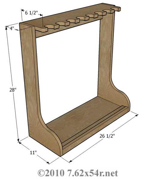 DIY Vertical Gun Rack  Wood Vertical Gun Rack Plans Free