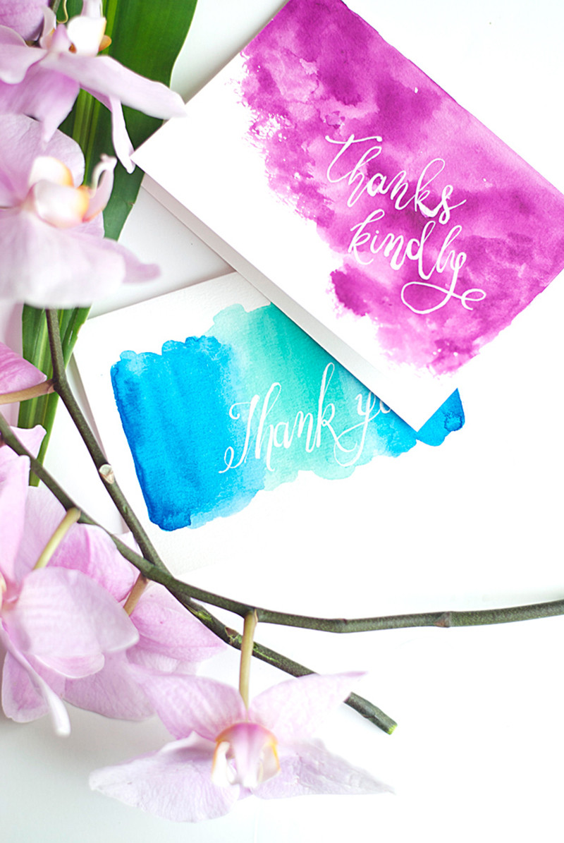 DIY Watercolor Christmas Cards  18 DIY Projects That Celebrate Lettering and Type – Design