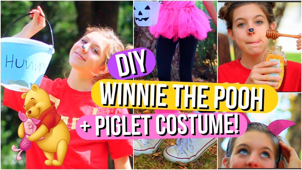 DIY Winnie The Pooh Costume  DIY Winnie the Pooh and Piglet Halloween Costumes