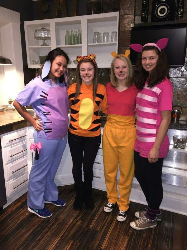 DIY Winnie The Pooh Costume  Eeyore Tigger Pooh Piglet Halloween Costumes