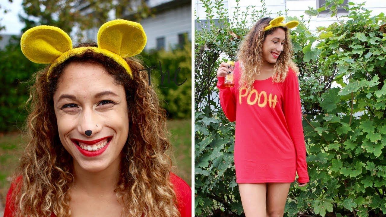 DIY Winnie The Pooh Costume  LAST MINUTE DIY WINNIE THE POOH COSTUME For Under $10