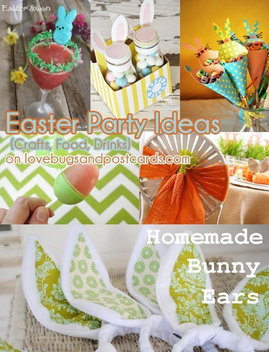 Easter Party Food Ideas Pinterest  Easter Party Ideas Crafts Food Drinks Lovebugs and
