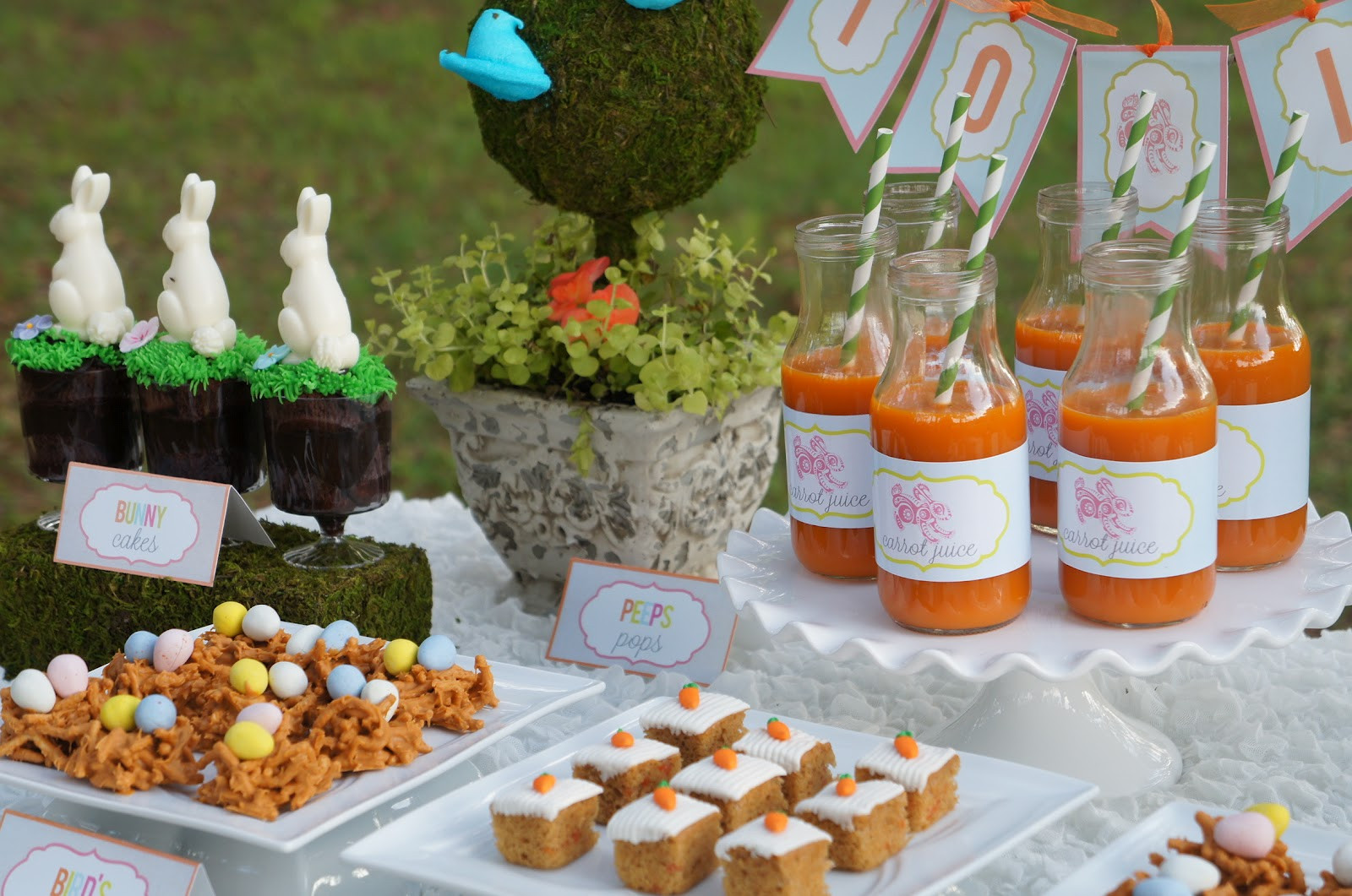 Easter Party Food Ideas Pinterest  Hop Over Easter Party Real Parties I ve Styled