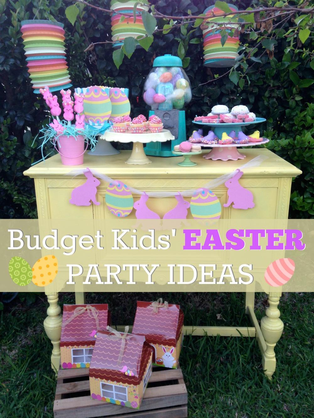 Easter Party Ideas Children  Bud Friendly Kids Easter Dessert Table Ideas