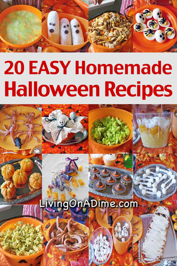 Easy Halloween Party Food Ideas  20 Homemade Halloween Recipes Food Party And Snack Ideas