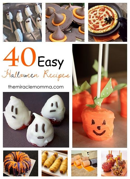 Easy Halloween Party Food Ideas  40 Easy Halloween Recipes Party Ideas
