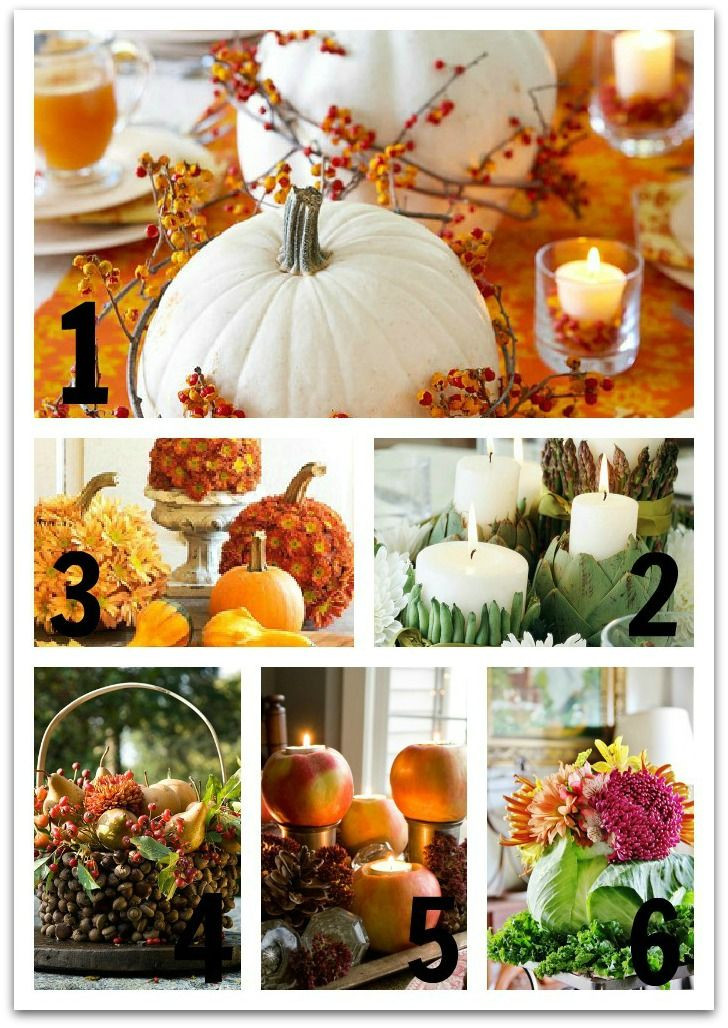Easy Thanksgiving Table Decorations  Six Easy Thanksgiving Centerpiece Ideas