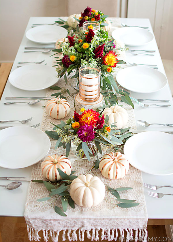 Easy Thanksgiving Table Decorations  Thanksgiving Tables & Fall Tablescape Inspiration