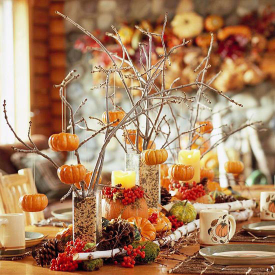 Easy Thanksgiving Table Decorations  Ideas for Easy Inexpensive & Crafty Table Decorations for