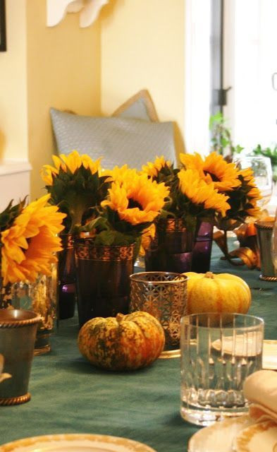 Easy Thanksgiving Table Decorations  Simple Thanksgiving Table Decorations