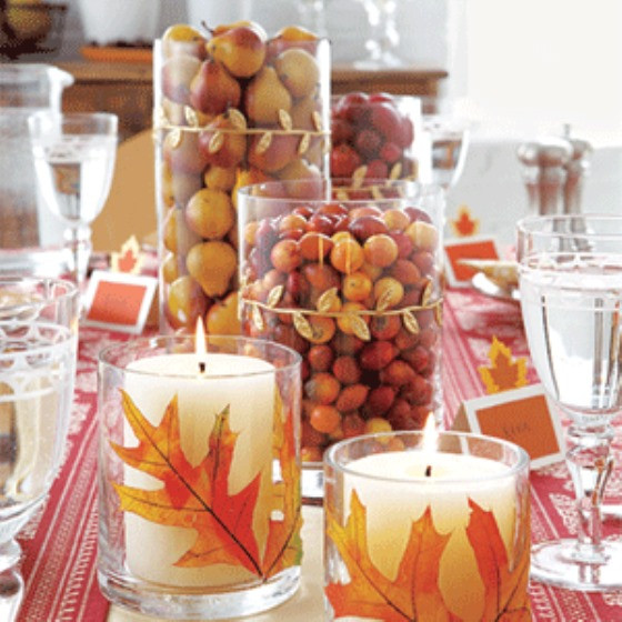 Easy Thanksgiving Table Decorations  31 Days of Fall 20 Easy Fall Centerpiece Ideas