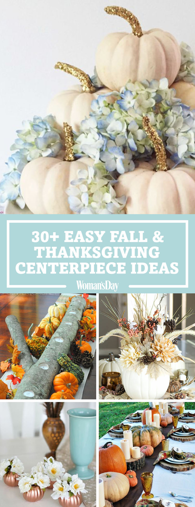 Easy Thanksgiving Table Decorations  40 Fall and Thanksgiving Centerpieces DIY Ideas for Fall