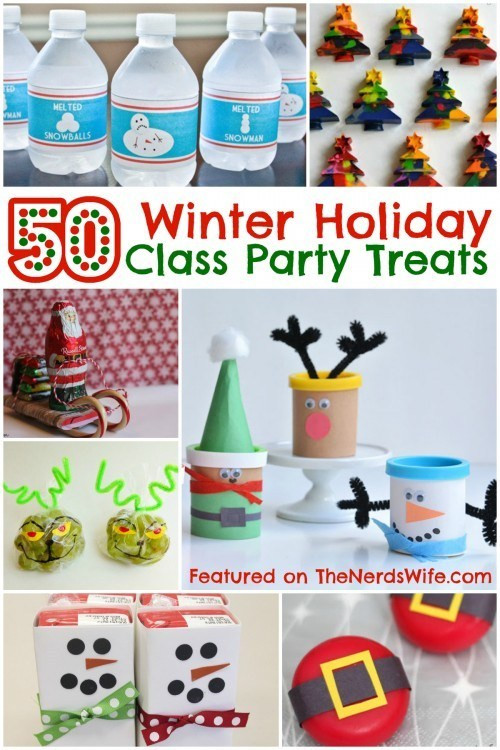 Elementary School Christmas Party Ideas  50 Winter Holiday Class Party Treats Your Kids Are Sure to